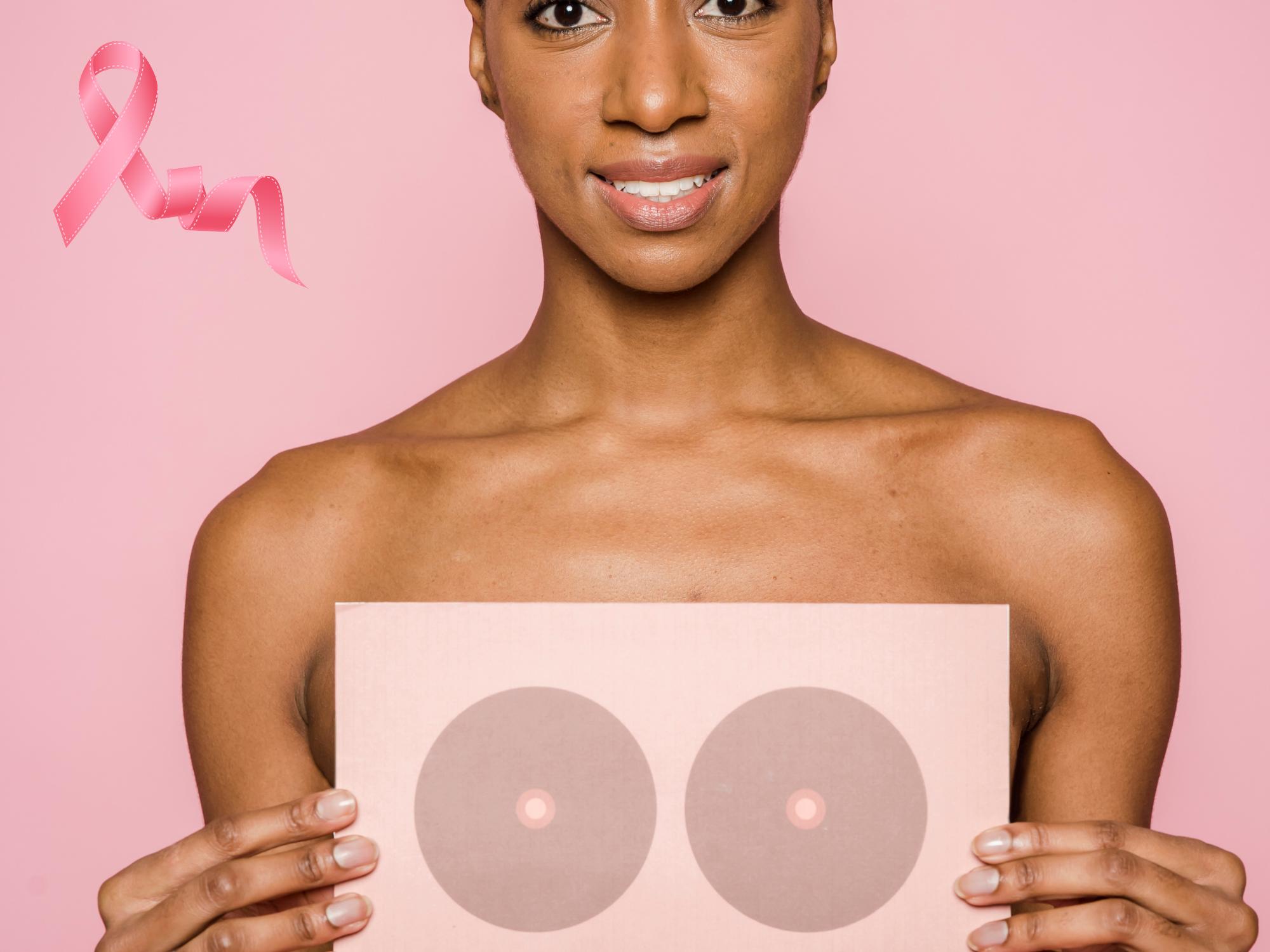 Jeune femme portant deux enceintes devant elle pour cacher sa poitrine, afin de connoter la formation aréoles mammaires dispensée par Coralie Bousquet.